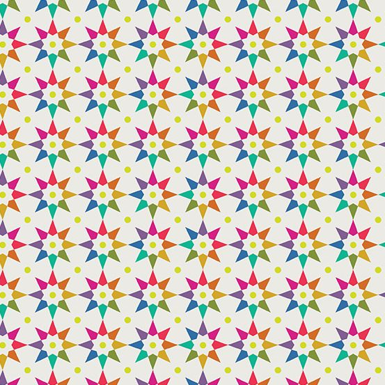 Art Theory Rainbow Star Day Alison Glass A9703-L Cotton Fabric
