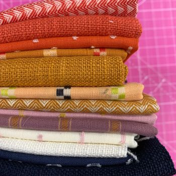 FABruary DESTASH Warp and Weft Wovens Ruby Star Society Alexia Abegg 13 Designs Stash Starter Bundle Cotton Fabric Stash Stack