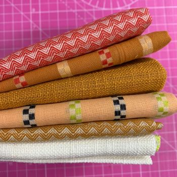 FABruary DESTASH Warp and Weft Wovens Ruby Star Society Alexia Abegg 6 Designs Stash Starter Bundle Cotton Fabric Stash Stack