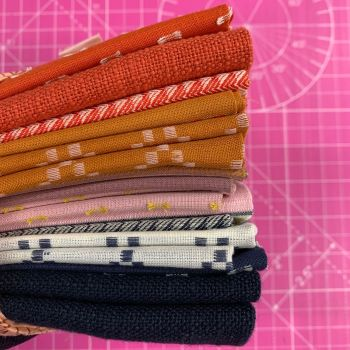 FABruary DESTASH Warp and Weft Wovens Ruby Star Society Alexia Abegg 10 Fat Quarter Stash Starter Bundle Cotton Fabric Stash Stack