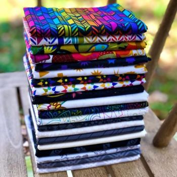 Alison Glass Art Theory 20 Half Yard Bundle Cotton Fabric Cloth Stack