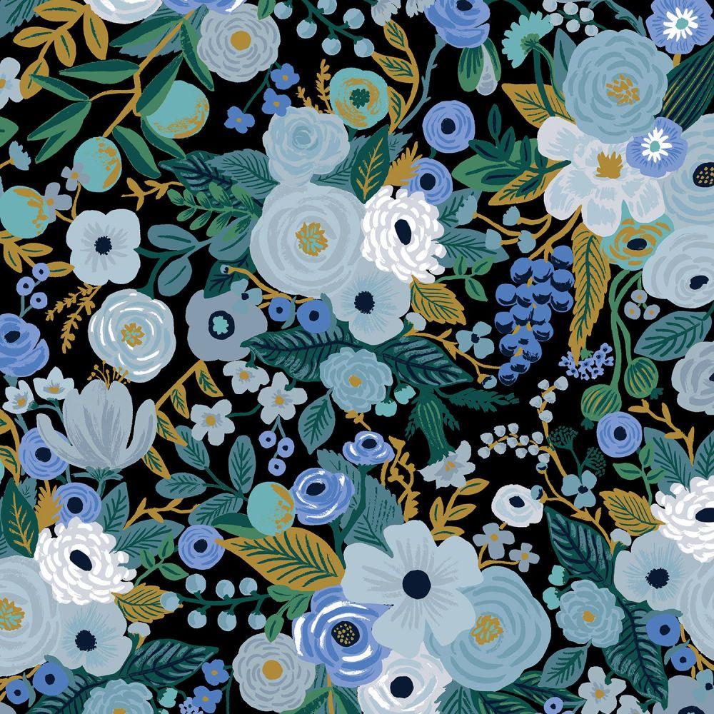Rifle Paper Co. Garden Party Blue Rose Floral Botanical Cotton Fabric