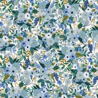 Rifle Paper Co. Petite Garden Party 2021 Blue Rose Floral Botanical Cotton Fabric