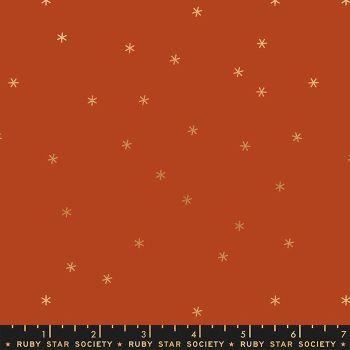 Rise Spark Cayenne Metallic Star Ruby Star Society Melody Miller Cotton Fabric