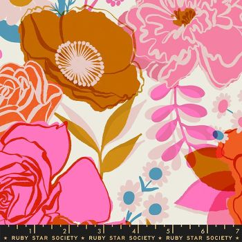 Rise Bloom Shell Rayon Melody Miller Ruby Star Society Viscose Challis Fabric