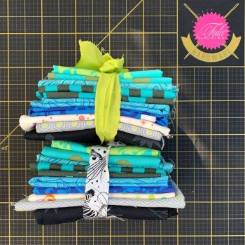 Limit 1 per customer. DESTASH Tula Pink Stash Starter Bundle True Colors Greens and LINEWORK Cotton Fabric Stash Stack