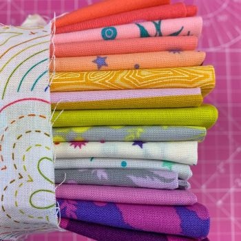 Limit 1 per customer. DESTASH Tula Pink Stash Starter Bundle True Colors Fruity Cotton Fabric Stash Stack
