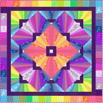 PRE-ORDER Tula Pink True Colors Solar Flare Quilt Kit by FreeSpirit Fabrics