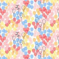 Michael Miller Celebrate Sandra Clemons Floating Balloons Blossom Nursery Cotton Fabric