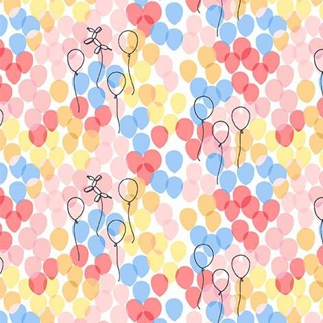 Michael Miller Celebrate Sandra Clemons Floating Balloons Blossom Nursery C