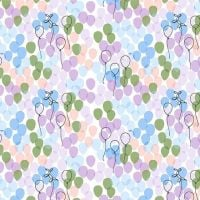 Michael Miller Celebrate Sandra Clemons Floating Balloons Breeze Nursery Cotton Fabric