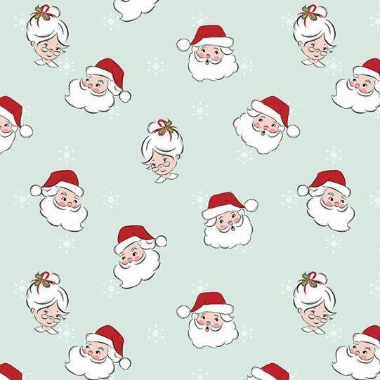 Santa Claus Lane Main Mint Father Christmas Mrs Claus Heads Christmas Festi