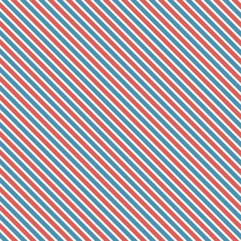 Love Letters Airmail Stripes Blue Red Diagonal Stripe Bias Cotton Fabric