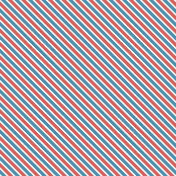 Love Letters Airmail Stripes Blue Red Diagonal Stripe Bias Cotton Fabric