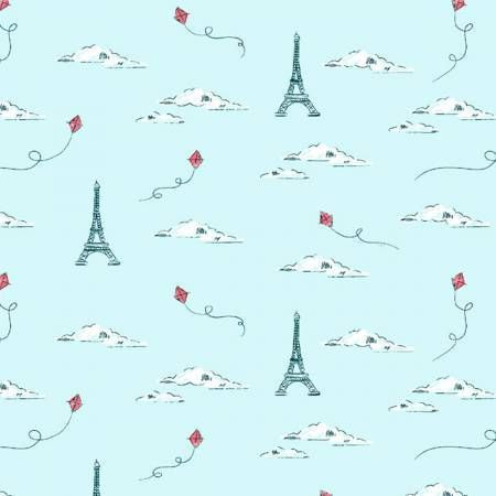Parisienne Eiffel Tower Horizon Paris Kites Travel French City Landmark Sky