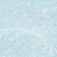 "Couturiere Parisienne Blue Paris City Map Landmark Europe Riley Blake Designs Cotton Fabric per 36"" Panel"