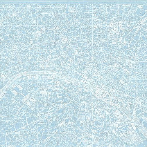 Couturiere Parisienne Blue Paris City Map Landmark Europe Riley Blake Desig