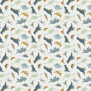 Fossil Rim 2 Dinosaurs Cream Jurassic Dino Tossed Dinosaur Riley Blake Designs Cotton Fabric