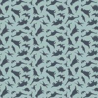 Fossil Rim 2 Dinosaurs Blue Jurassic Dino Tossed Dinosaur Riley Blake Designs Cotton Fabric