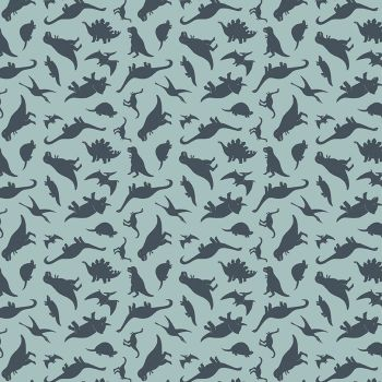 Fossil Rim 2 Dinosaurs Blue Jurassic Dino Tossed Dinosaur Riley Blake Designs Cotton Fabric