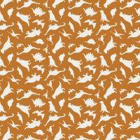 Fossil Rim 2 Dinosaurs Orange Jurassic Dino Tossed Dinosaur Riley Blake Designs Cotton Fabric