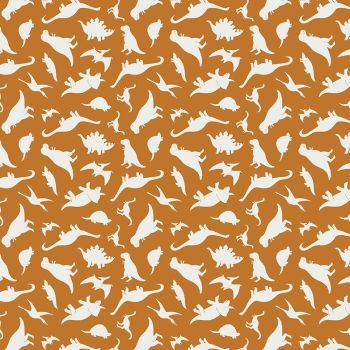 Fossil Rim 2 Dinosaurs Orange Jurassic Dino Tossed Dinosaur Riley Blake Designs Cotton Fabric