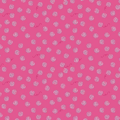 Chloe and Friends Yarn Balls Hot Pink Knitting Knitters Wool Riley Blake D