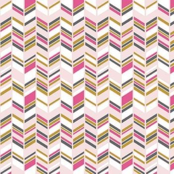 Chloe and Friends Herringbone Pink Geometric Metallic Gold Riley Blake Designs Novelty Cotton Fabric