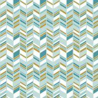 Chloe and Friends Herringbone Mint Geometric Metallic Gold Riley Blake Designs Novelty Cotton Fabric