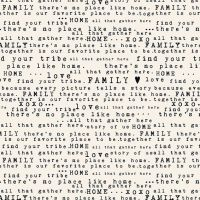 Gingham Farm Text Cream Home Love Family Words Typography Typewriter  Riley Blake Designs Cotton Fabric