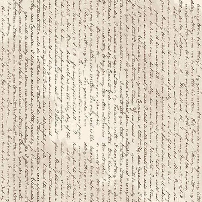 Jane Austen At Home Correspondence Text Cream Letters Riley Blake Designs C