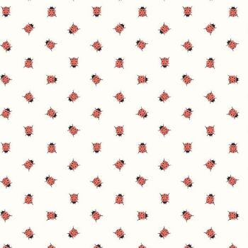 Petals and Pots Ladybirds Ladybug Ladybird Insect Riley Blake Designs Cotton Fabric
