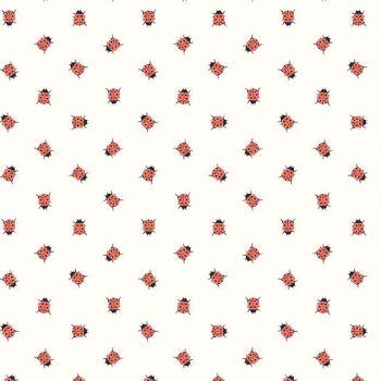 Petals and Pots Ladybirds Ladybug Ladybird Insect Riley Blake Designs Cotton Fabric