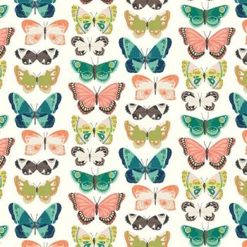 Midsummer Meadow Flutter Butterflies Cream Butterfly Riley Blake Designs Cotton Fabric