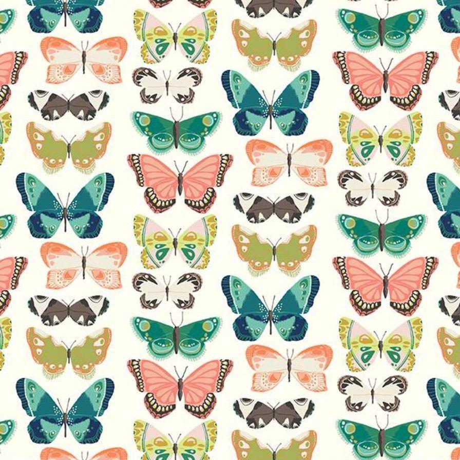 Midsummer Meadow Flutter Butterflies Cream Butterfly Riley Blake Designs Co