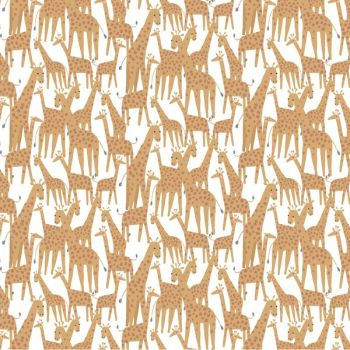 Call of the Wild Giraffe White Giraffes Dear Stella Animals Safari Cotton Fabric
