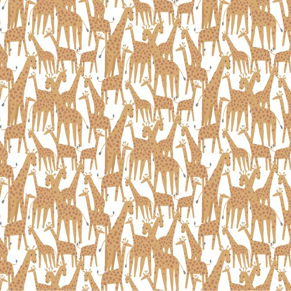 Call of the Wild Giraffe White Giraffes Dear Stella Animals Safari Cotton F