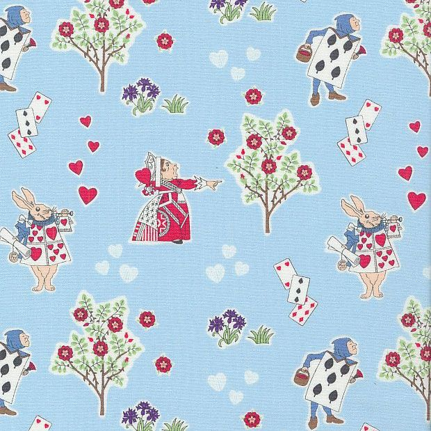 V & A Alice in Wonderland Queen of Hearts Blue Lewis Carroll Character Cott