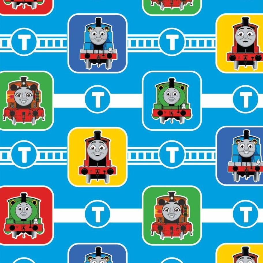 Thomas and Friends Character Blocks Blue Thomas The Tank Engine Nursery Cot