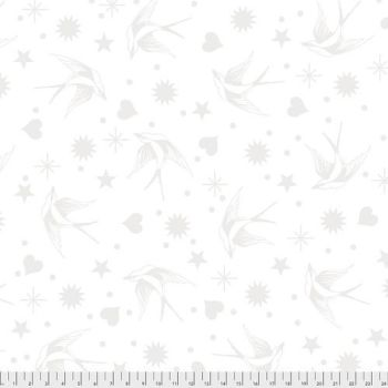 FULL BOLT 13.7m Tula Pink LINEWORK Fairy Flakes Paper Monochrome Cotton Fabric - SHIPPING RESTRICTIONS
