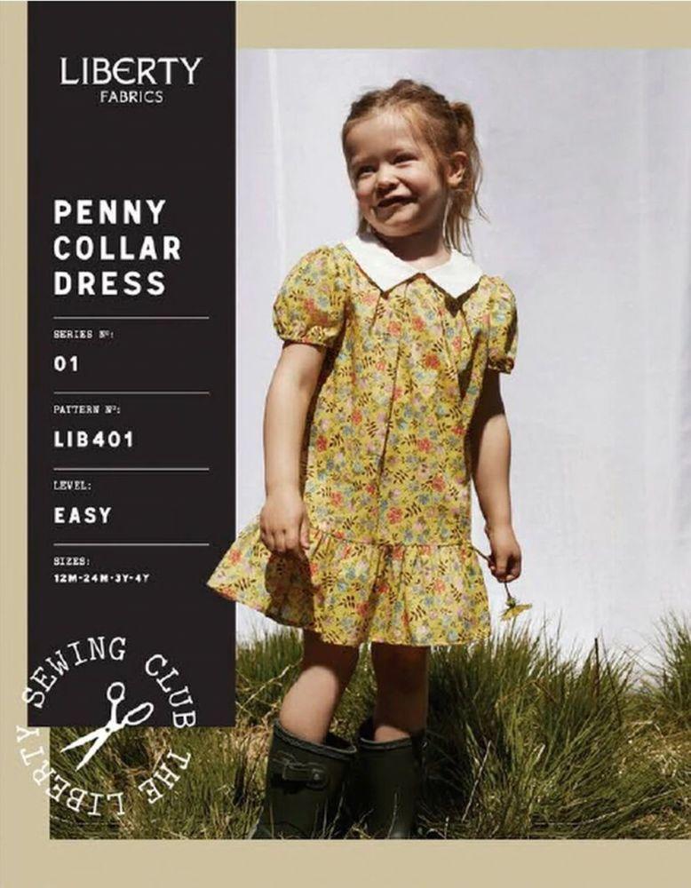 Liberty Sewing Pattern Penny Collar Girls' Dress (Beginner)
