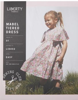 Liberty Sewing Pattern Mabel Tiered Girls' Dress (Beginner)