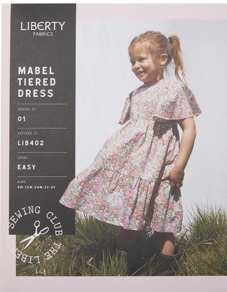 Liberty Sewing Pattern Mabel Tiered Girls' Dress (Beginner)