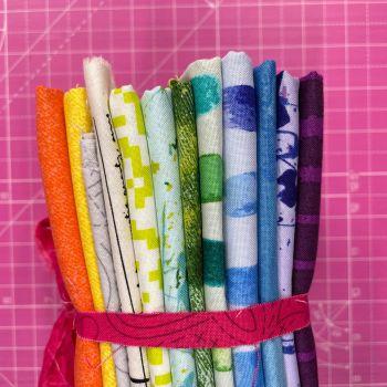 DESTASH Andover All Stars A Stash Starter Bundle Cotton Fabric Stash Stack  (Pink Stitched Tie)