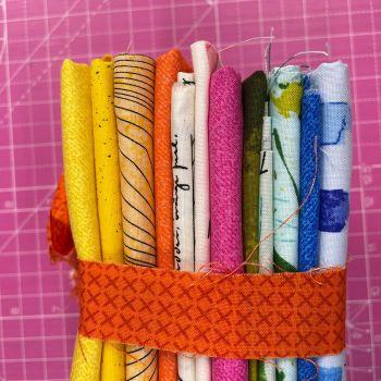 DESTASH Andover All Stars C Stash Starter Bundle Cotton Fabric Stash Stack  (Orange X Stitch Tie)
