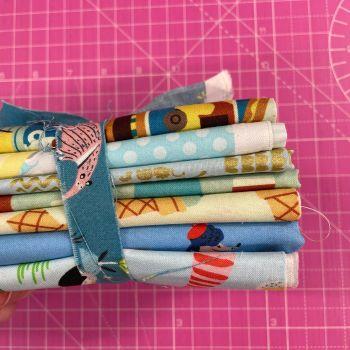 DESTASH Tasty Treats Stash Starter Bundle Cotton Fabric Stash Stack  (Anteater Tie)