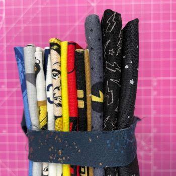 DESTASH Star Trek Stash Starter Bundle Cotton Fabric Stash Stack  (Navy Speckled Tie)