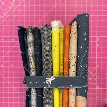DESTASH Spaced Out Stash Starter Bundle Cotton Fabric Stash Stack  (Astronaut Tie)