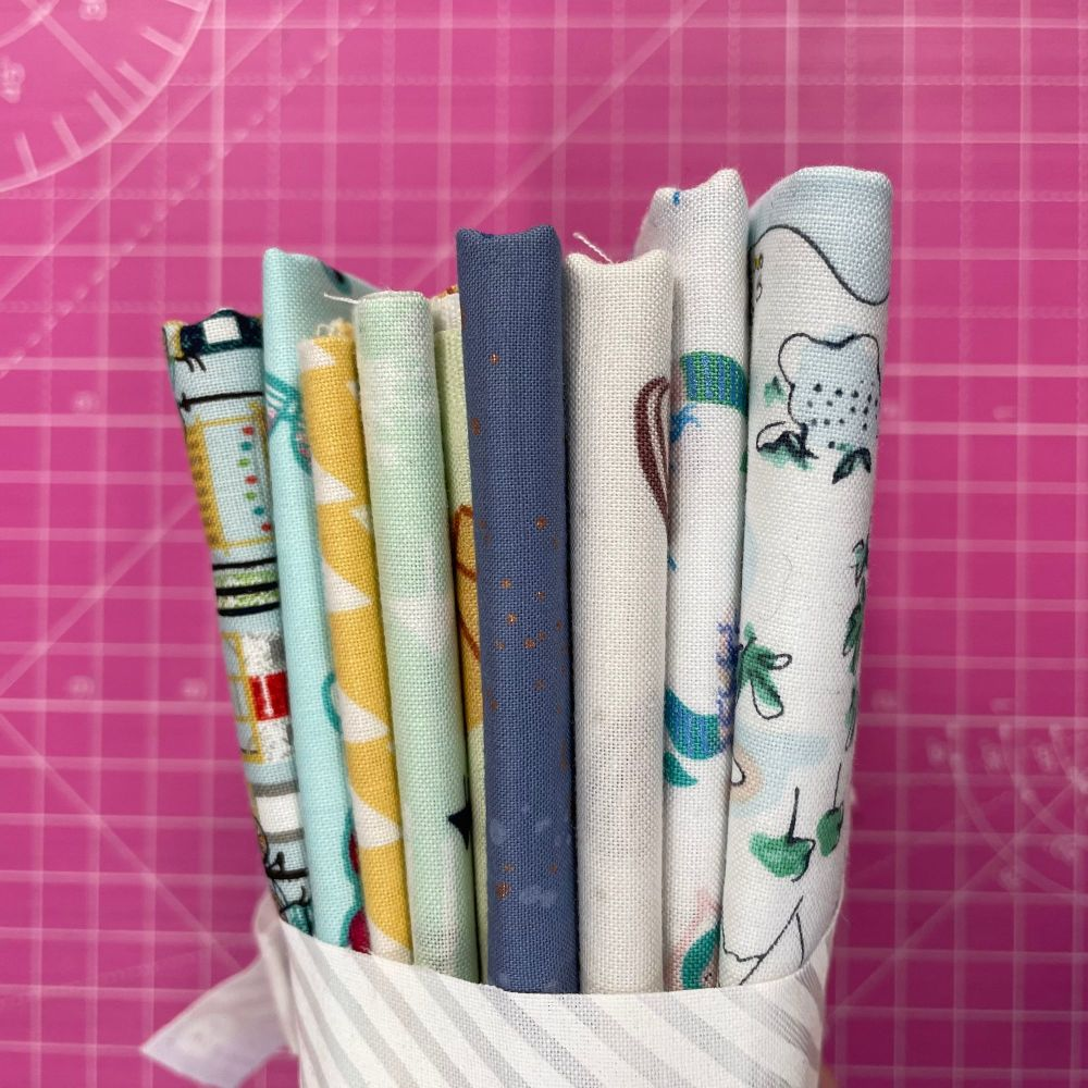 DESTASH Beach Vibes Stash Starter Bundle Cotton Fabric Stash Stack  (White