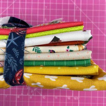 DESTASH Summer Heat Stash Starter Bundle Cotton Fabric Stash Stack  (Lobster Tie)